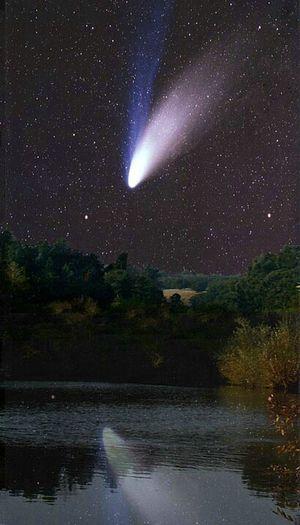 Hale Bopp Comet Over Water - Arthur Rosch