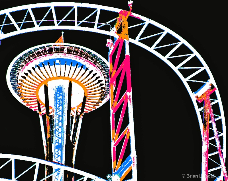 Space Needle from Amusement Park